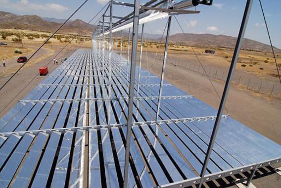 Colector de demostración Fresnel lineal MAN instalado en la Plataforma Solar de Almería (PSA)