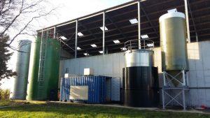 Planta demostrativa del proyecto DIGESMART construida en Gante (Bélgica). / Ainia