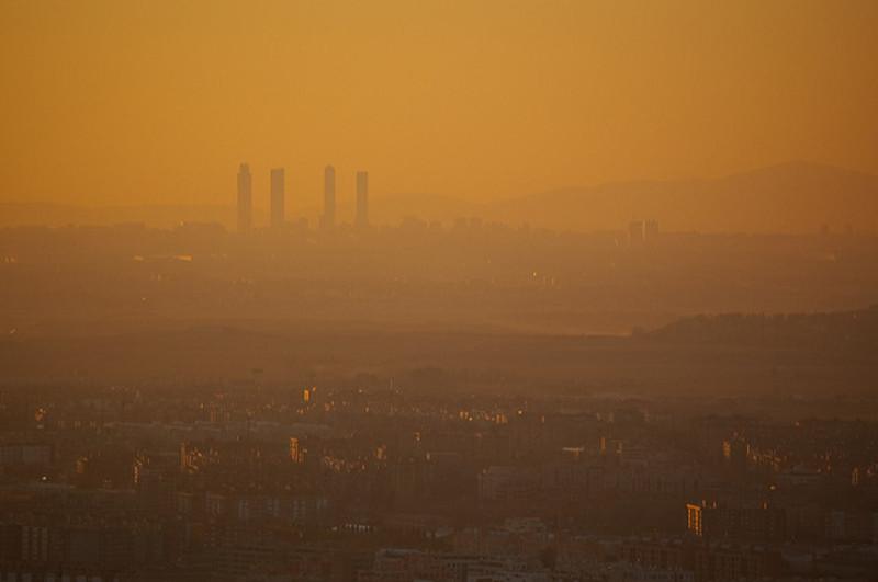 Imagen del skyline de Madrid con el complejo Cuatro Torres Business Area al fondo.